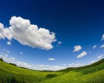 [wallcoo_com]_fish-eyed view of blue sky and grass